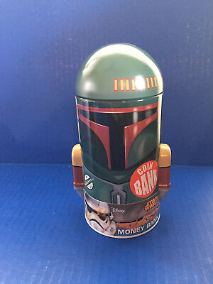 "Disney Star Wars Boba Fett Money Piggy Bank (Approx 7""H)"