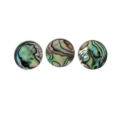 Pack of 3 Shell Trumpet Finger Buttons Insert Inlays Multi Color Dia. 13mm