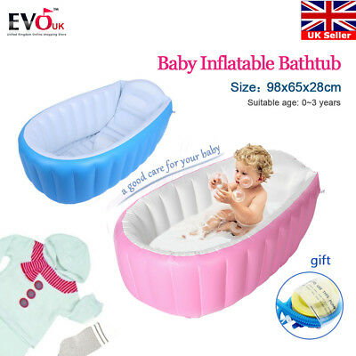 Inflatable Portable Travel Compact Toddler Infant Kids Baby Bath Tub Outdoor NEW