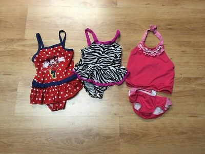 TODDLER GIRLS LOT OF 3 SWIMSUITS Oshkosh Children Place Size 3T