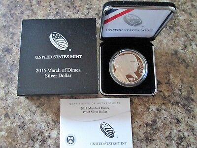 2015 March of Dimes Silver Proof Dollar US Mint