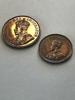 South Africa 1923 PROOF PENNY & PROOF HALF PENNY