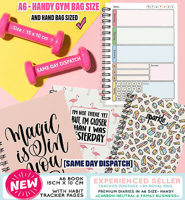 Food A6Diary Diet Journal Slimming World Compatible Weight Loss Tracker Summer☀️