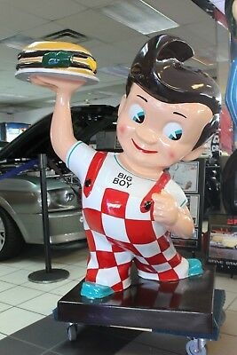 Reproduction 4ft Bob's Big Boy Restaurant Advertising Fiberglass Statue