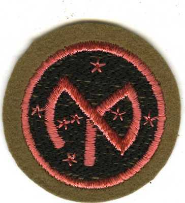 Beautiful Inter War 27th Infantry Division Wool Bordered SSI With Pinkish Color