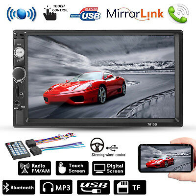 7'' 2-DIN Touch Bluetooth Car Stereo MP3 MP5 Player FM Radio Hands-free USB/AUX