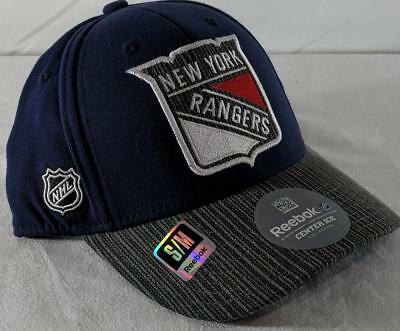 newest collection 31633 6ba67 LZ Reebok Adult Fitted S M New York Rangers Hockey NHL Baseball Cap Hat NEW