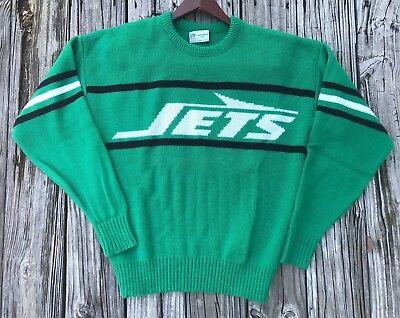 New York Jets Vintage Cliff Engle Green Sweater 1980s Clean Large