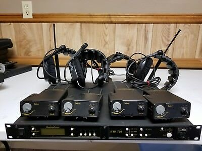 New Telex BTR-700 Base Station B4 Band 4 BeltPacks & 4 headsets