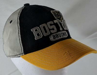 100% authentic fa874 b31dc LZ Reebok Adult One Size OSFA Boston Bruins Hockey NHL Baseball Cap Hat NEW  B60