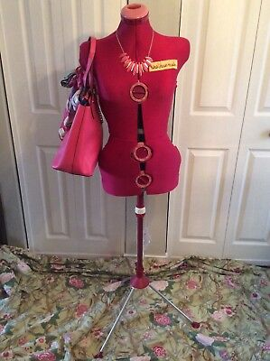 Vintage Retro Pink Sears Dial-Your-Twin Dress Form Mannequin & Stand England