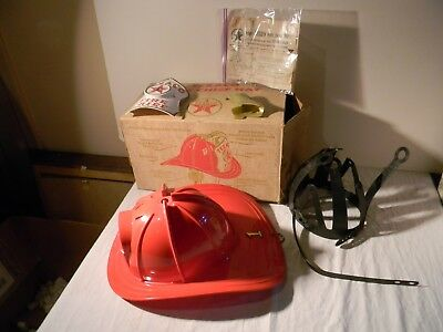 1960's Wen Mac Texaco Fire Chief Helmet Hat With Box