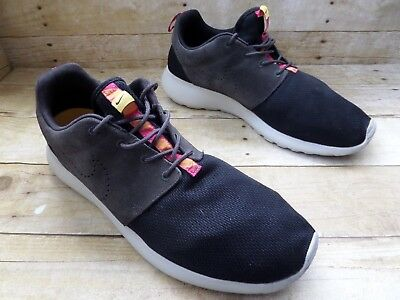 quality design c9fa0 37a18 RARE! NIKE ROSHE Run One Black w/ Gray Suede Leather Running Shoes Men's  Size 13
