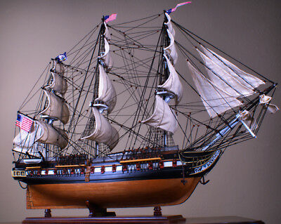"USS Constitution 36"" wood ship model sailing American tall boat"