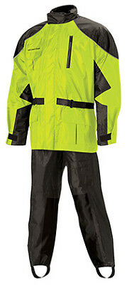 Nelson Rigg AS-3000 Aston Yellow 2-Piece Motorcycle Rain Suit Jacket & Pant