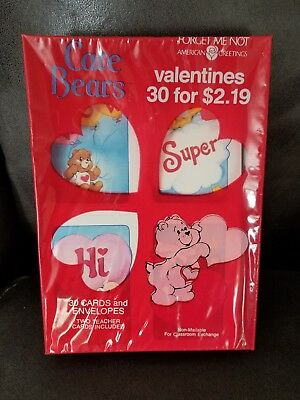 Vintage care bears american greetings valentines day cards 30 count vintage care bears american greetings valentines day cards 30 count 1988 nip m4hsunfo