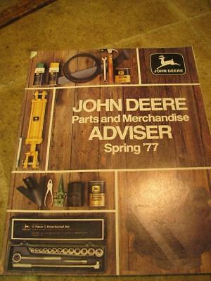 John Deere Parts and Merchandise Spring 1977 Advertising Sales Brochure Tools