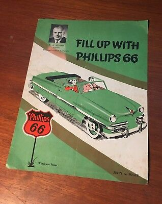 Phillips 66 1950 Fill Up With Phillips 66 Sheet Music