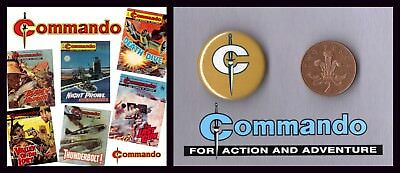 Commando Comic Collection on 6 DVDS 510 Issues in PDF - With Free Commando Badge