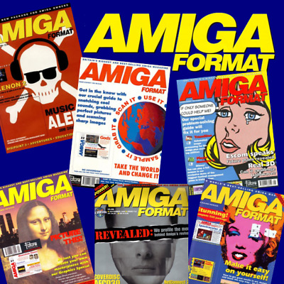 Amiga Format - Complete Run on PDF - 6 DVD Set With Extras - High Resolution