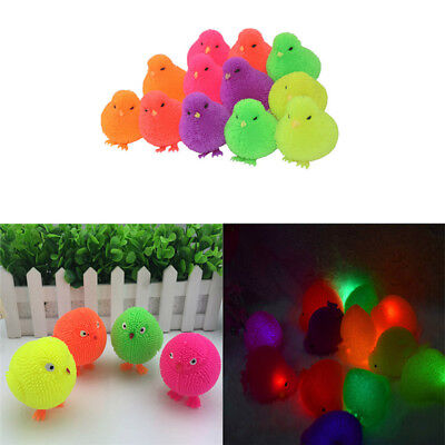 Light Up Chick Toys Puffer Yo Yo Chicken Squidgy Chick Stress Relief Squeeze Toy