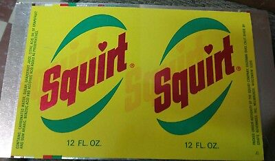 Vintage SQUIRT SODA 12 OZ.  TIN CAN RARE NEVER PROCESSED ADVERTISING COLLECTABLE