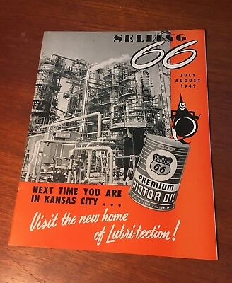 Phillips 66 July-August 1949 Selling 66 In-House Magazine Newsletter Paper Mint!