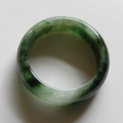 Size 9 1/4 * CERTIFIED Natural (Grade A) Untreated Green Jadeite JADE Ring #R129