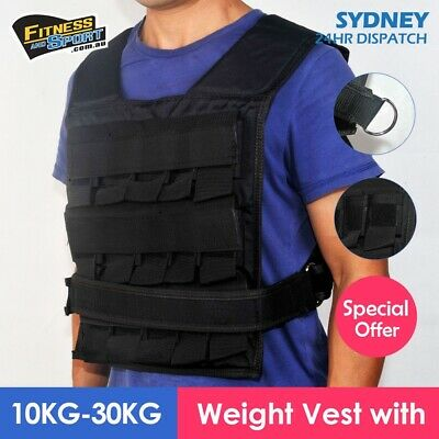 Adjustable Weighted Vest with 10KG-30KG Blocks Fitness Gym Equipment Exercise