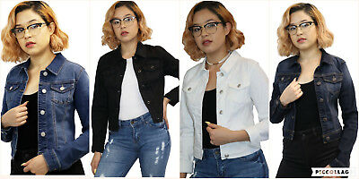 NEW WAX JEAN Women's Classic Denim Jacket Regular & Plus Size