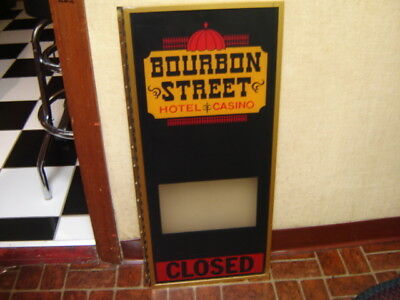 Vintage Bourbon Street Hotel & Casino Closed Las Vegas NV Flange Window Sign