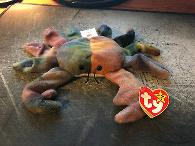 NWT TY ORIGINAL BEANIE BABY 1996 CRAB CLAUDE STYLE 4083 PVC PELLETS NMWT