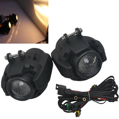 2x Black Headlight Safety Fog Lamp Foglight For BMW K1600 R 1200GS Adventure New