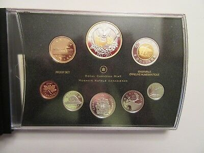 2011 Canada Silver Proof set, 8 coins, Canada Parks, gold gilld