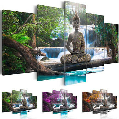5P Canvas Print Modern Picture Wall Art Decor Home Buddha Zen Landscape Painting