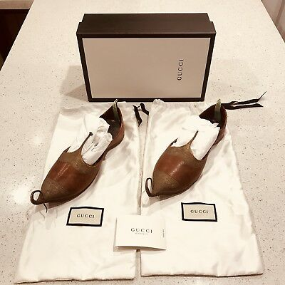 Gucci Runway Show Khussa Shoes Unisex 1920 Antique