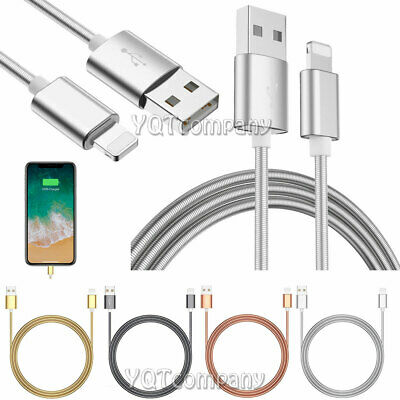 Metal Lightning USB Cable For Apple iPhone XS Max XR 6 /7 /8 Plus X Sync Charger