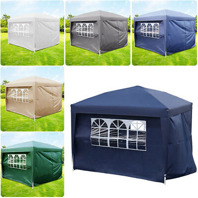 Pro Outdoor Garden Marquee Party 4 Side Waterproof Pop Up Gazebo Camping Shelter