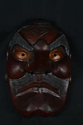 K7243: Japanese Wooden TENGU MASK Noh mask Kagura Ornaments Display