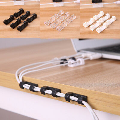 20PCS Cable Drop Clip Desk Tidy Wire Cord Lead Cord Holder Organizer Holder FT
