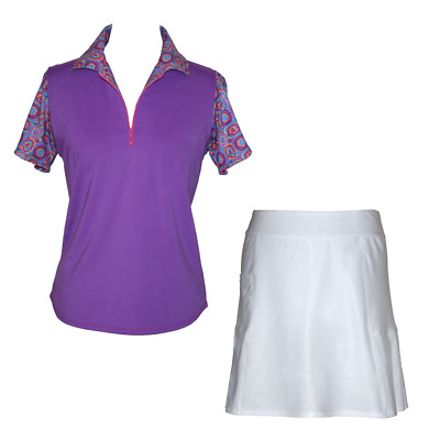 BNWT, Golf Outfit with White Skort and Purple Top, FREE SHIPPING!