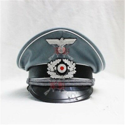 WW2 WWII German Officer Cosplay Woolen Hat Military Visor Crusher Cap Collection