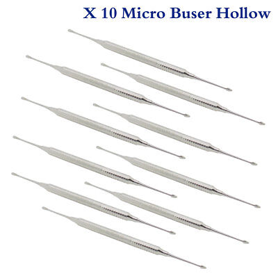 Pack of 10 PCS Micro Buser Periosteal Elevators Reflecting & Retracting Tools
