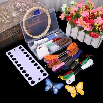 38pcs/set Embroidery Pen Set Knitting DIY Sewing Tool Kit Punch Needle Stitching