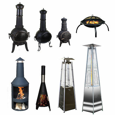 Outdoor Garden Patio Chimenea Fire Pit Patio Heater Charcoal Gas Heater Burners