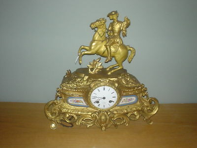Antique French Bronz & ormolu Clock
