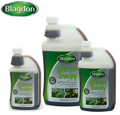*New* Blagdon Green Away Pond Algae Green Water Treatment Plant & Fish Safe