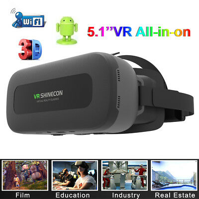 72f22308051 ALL-IN-ONE VR VIRTUAL Reality 3D Glasses 1080p 5.5   Display Screen ...