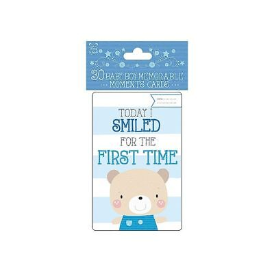 Baby boy moment cards milestone 30 cards new baby shower maternity leave gift