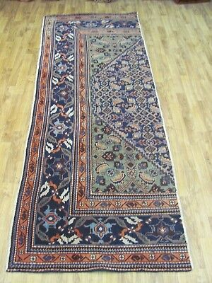 A SUPERB OLD HANDMADE PART OF  AN ARDABIL PERSIAN RUG (245 x 95 cm)